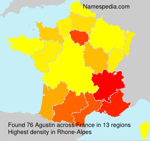 Surname Agustin in France