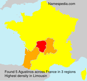 Surname Agustinos in France