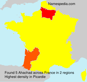Surname Ahachad in France