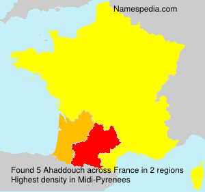 Surname Ahaddouch in France
