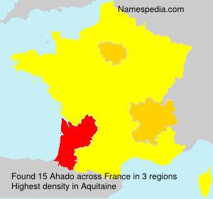 Surname Ahado in France