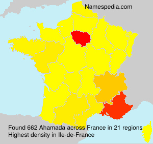 Surname Ahamada in France