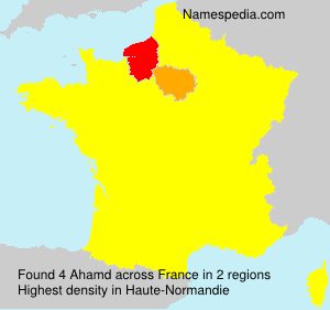 Surname Ahamd in France