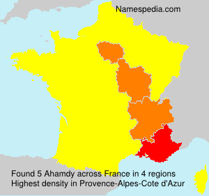 Surname Ahamdy in France