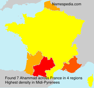 Surname Ahammad in France
