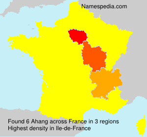 Surname Ahang in France