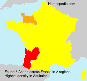Surname Ahano in France