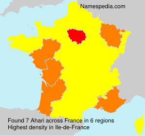 Surname Ahari in France