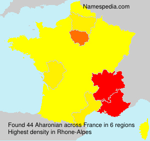 Surname Aharonian in France