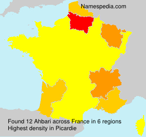 Surname Ahbari in France