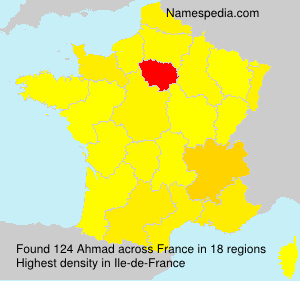 Surname Ahmad in France