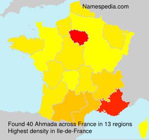 Surname Ahmada in France