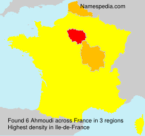 Familiennamen Ahmoudi - France