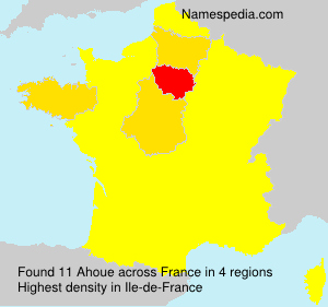 Surname Ahoue in France