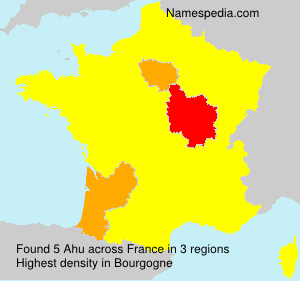 Surname Ahu in France