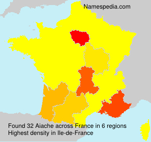 Surname Aiache in France