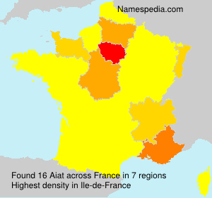 Surname Aiat in France