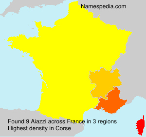 Surname Aiazzi in France