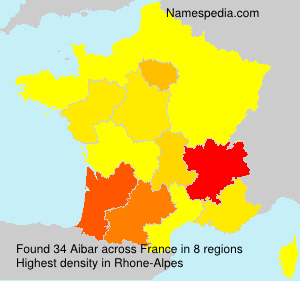Surname Aibar in France