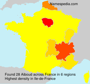 Surname Aiboud in France
