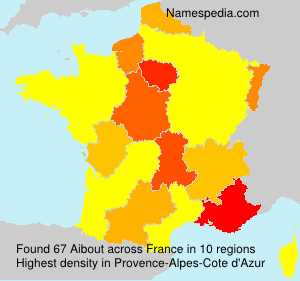 Surname Aibout in France