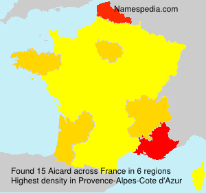 Surname Aicard in France