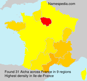 Surname Aicha in France