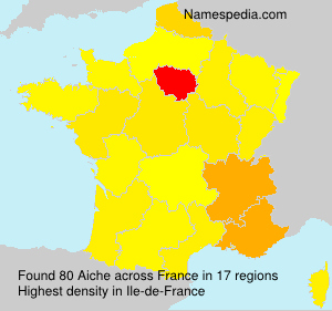 Surname Aiche in France