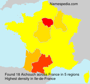 Surname Aichouch in France