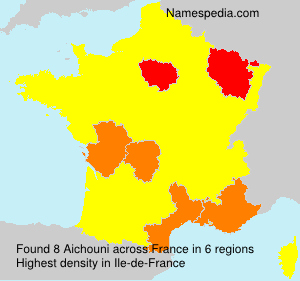 Surname Aichouni in France
