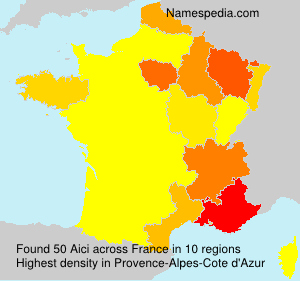 Surname Aici in France