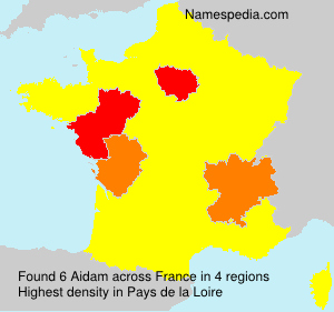 Surname Aidam in France