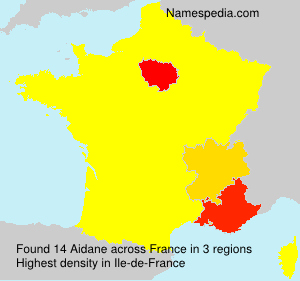 Surname Aidane in France