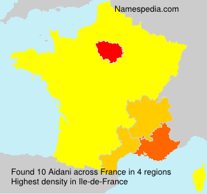 Surname Aidani in France