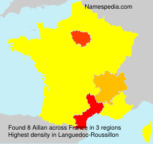 Surname Aillan in France