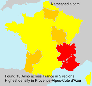 Surname Aimo in France