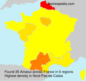 Surname Ainaoui in France