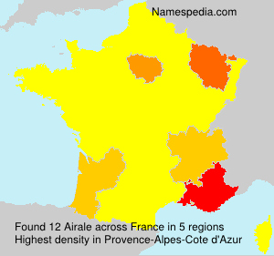 Surname Airale in France