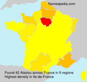 Surname Aissiou in France