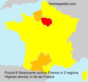 Familiennamen Aissiouene - France