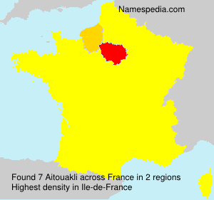 Surname Aitouakli in France