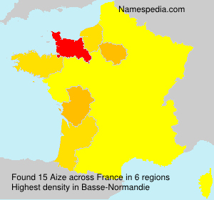 Surname Aize in France