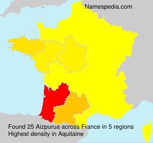 Surname Aizpurua in France