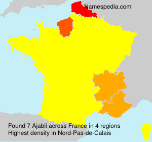 Surname Ajabli in France