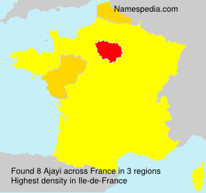 Surname Ajayi in France