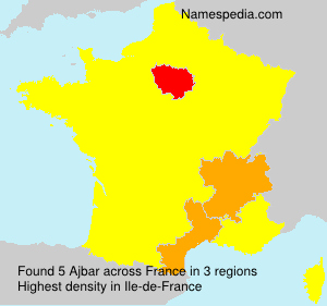 Surname Ajbar in France