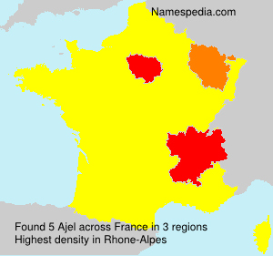 Surname Ajel in France