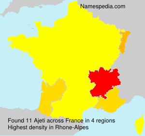 Familiennamen Ajeti - France