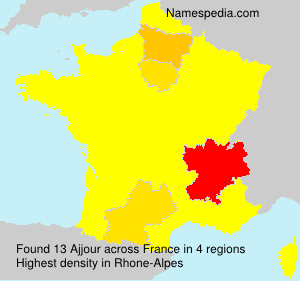 Surname Ajjour in France