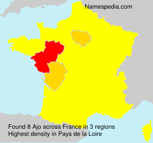 Surname Ajo in France